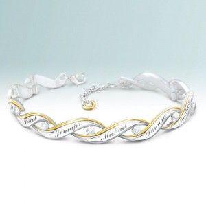 Personalized Diamond Bracelet with Names