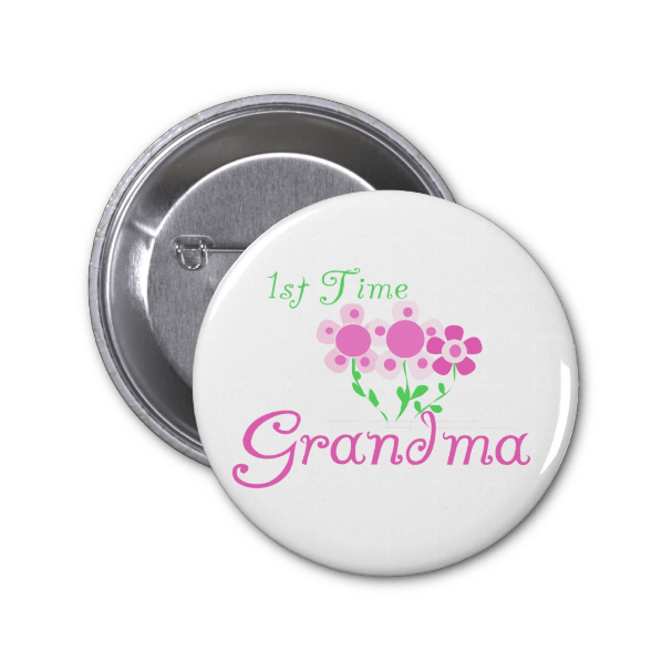 First Time Grandma Button