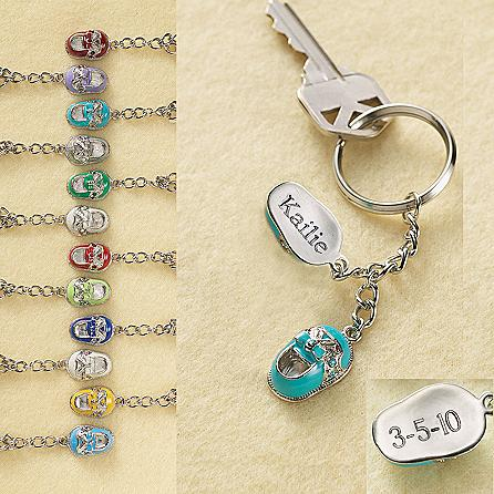 Personalized Baby Shoes Keychain
