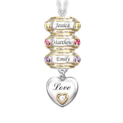 Birthstone Necklace For Grandma 10 Personalized