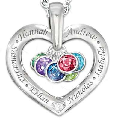 Birthstone Necklace for Grandma - 20 Pendants She'll Love!
