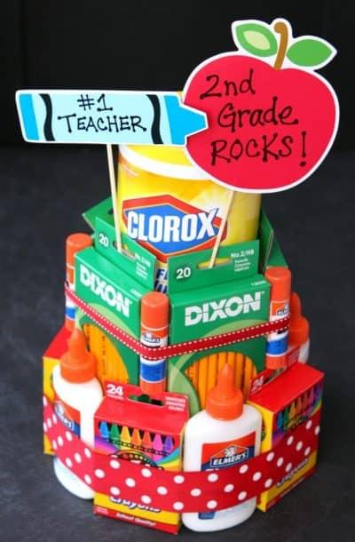 Back to School Supply Cake for Teachers