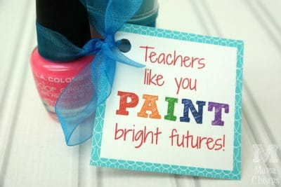 How cute is this easy manicure gift for teachers?