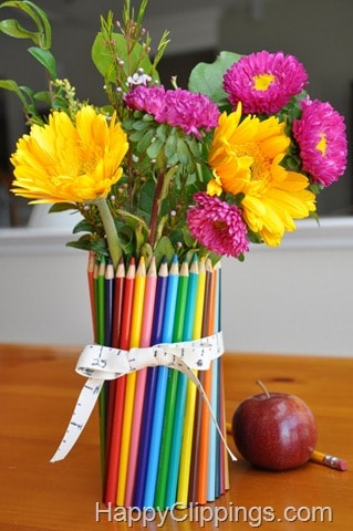 Homemade Colored Pencil Vase