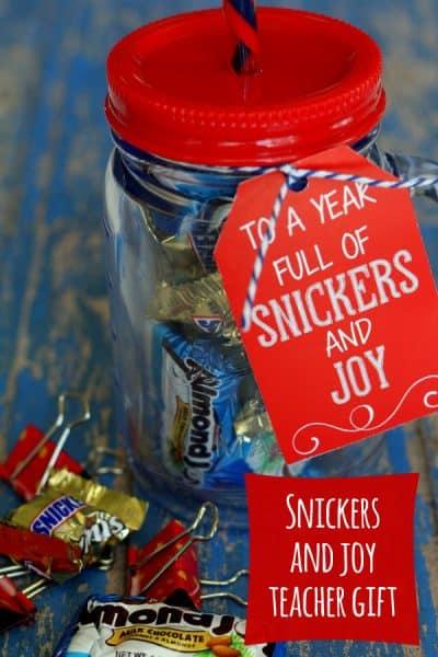 Snickers and Joy DIY Teacher Gift Idea