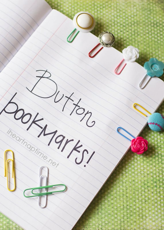 Homemade Gifts for Women - How cute are these button bookmarks?