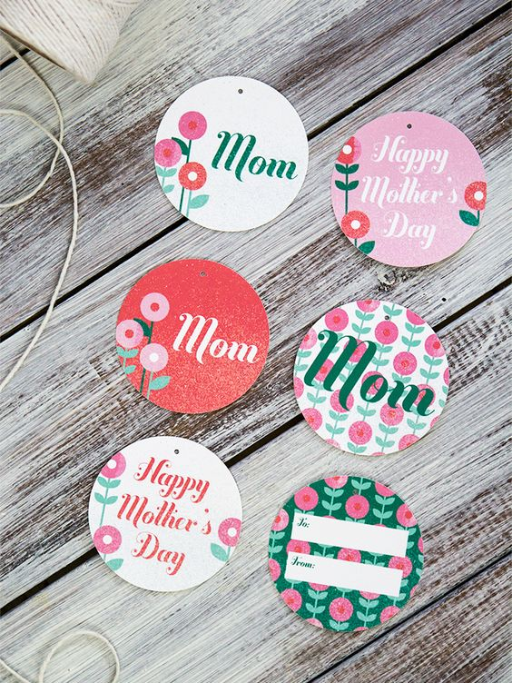 Free Mother's Day Printable Gift Tags