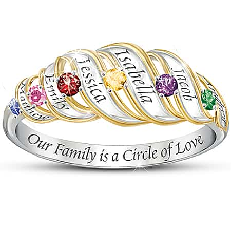 Circle of Love Family Birthstone Ring