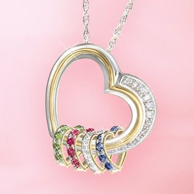 Personalized Mother's Necklaces with Birthstones