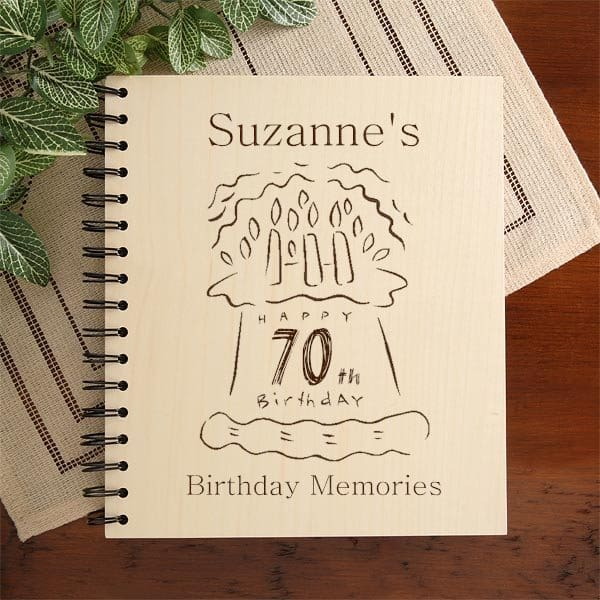Personalized 70th Birthday Photo Album