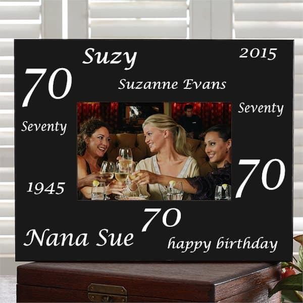 Personalized 70th Birthday Picture Frame
