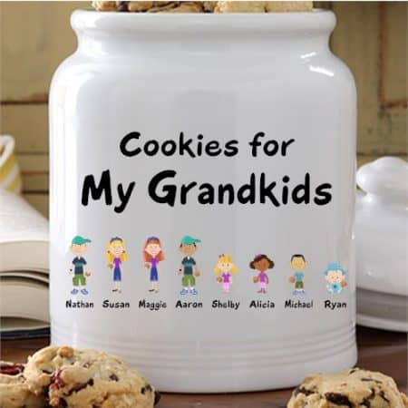 Personalized Cookie Jar is a fabulous Christmas gift for the Grandmother who enjoys baking!