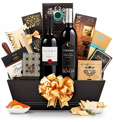 70th Birthday Wine Gift Basket