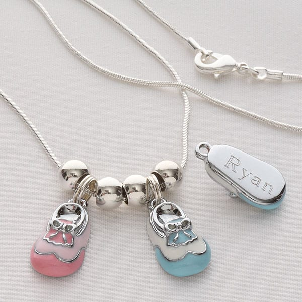 Baby Bootie Necklace