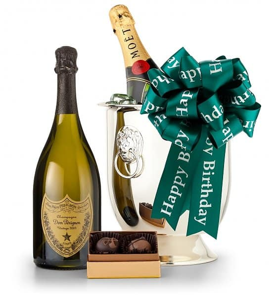 Birthday Champagne and Chocolates Gift Basket
