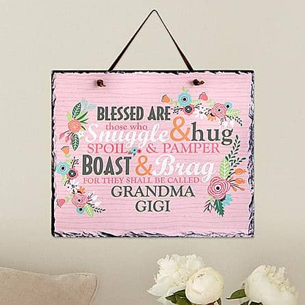 Personalized First Time Grandma Slate