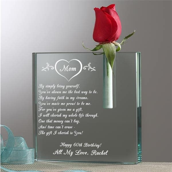 Personalized Glass Bud Vase