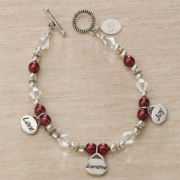 Personalized Grandma Charm Bracelet