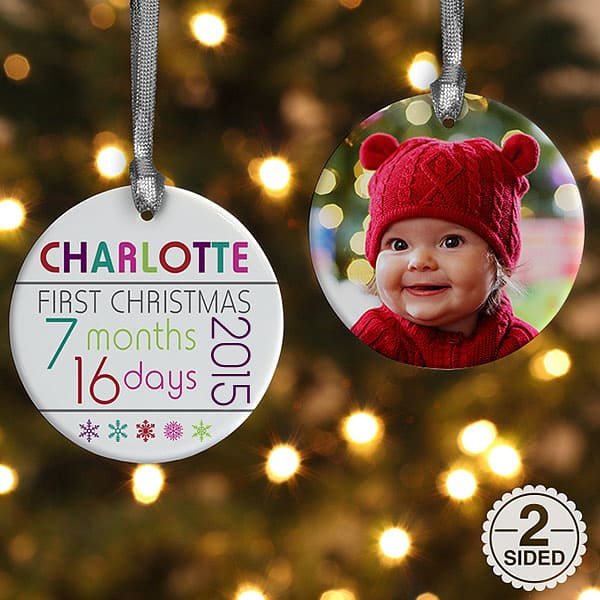 Personalized New Grandchild Picture Ornament
