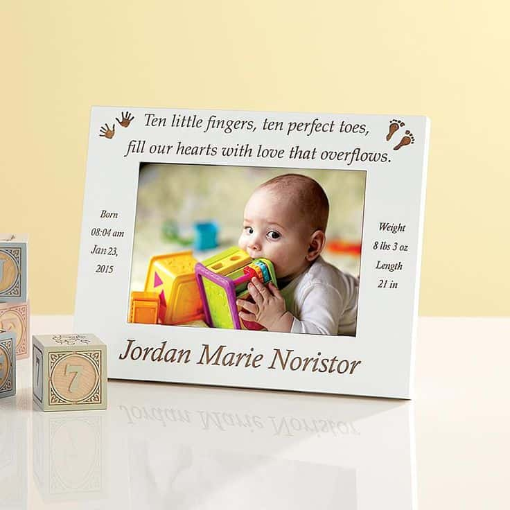 Personalized Ten Little Fingers Baby Frame