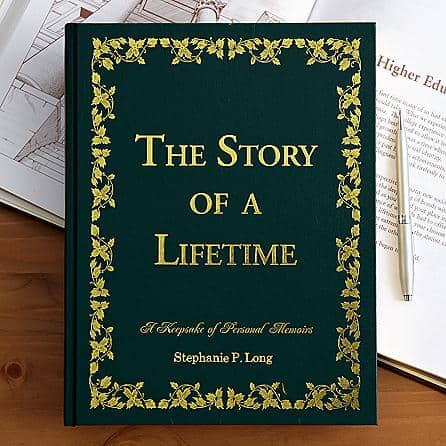 Creative 70th Birthday Gifts for Mom - Delight Mom with striking Story of a Lifetime Memory book.  A wonderful way for her to preserve and share her most important memories.