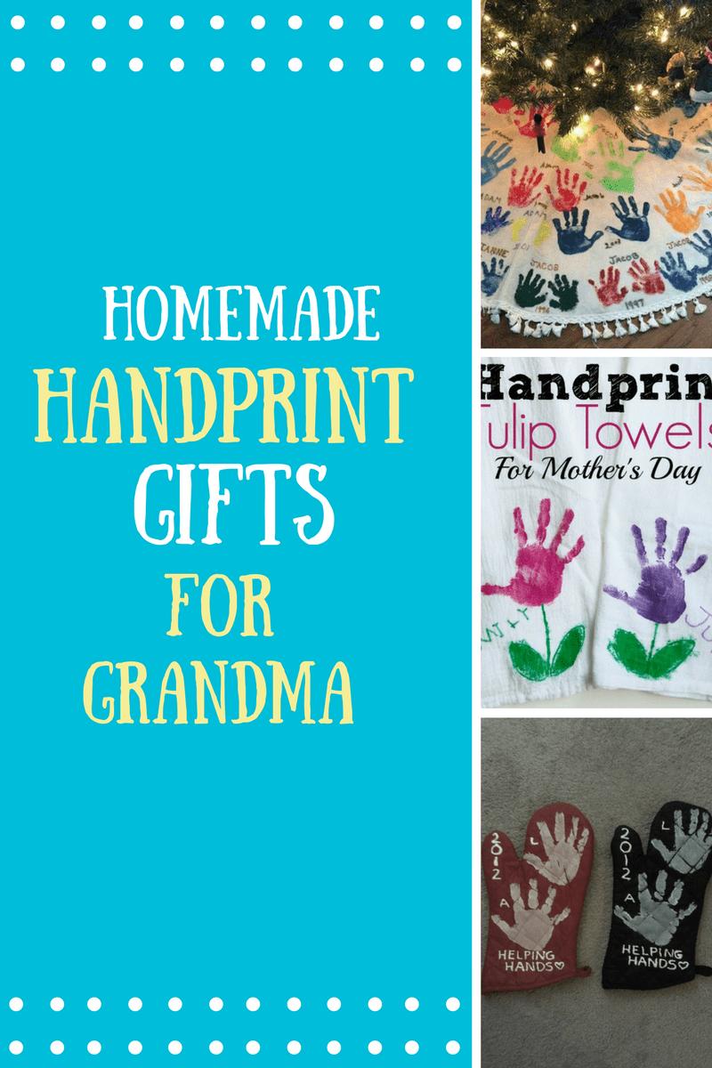 Homemade Handprint Gifts for Grandma