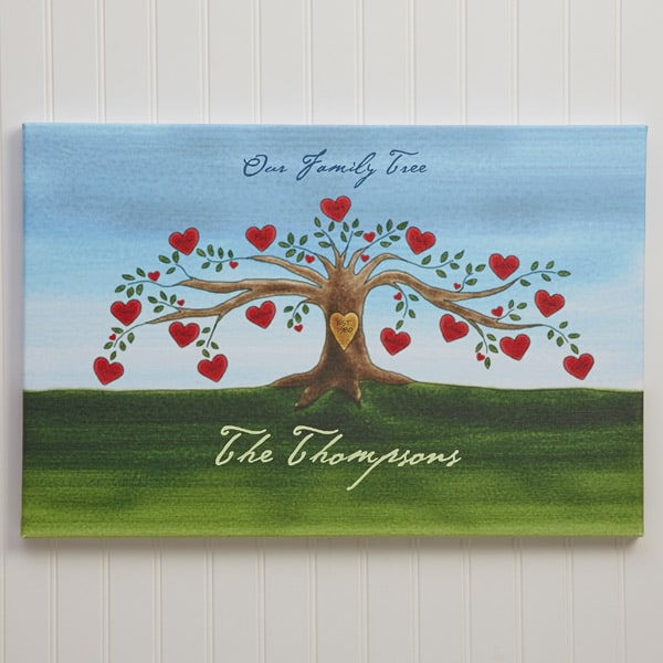 Personalized Family Tree Canvas Print