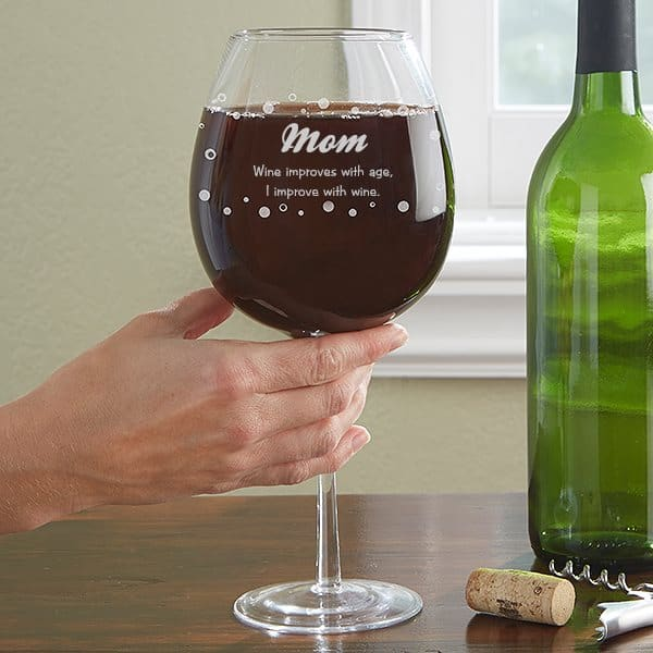 Personalized whole bottle wine glass is a funny gift for any woman who loves wine!