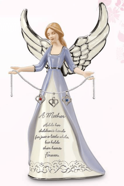 Mother Angel Figurine with Birthstones