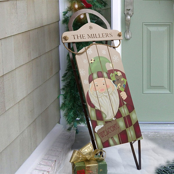 Want a unique Christmas gift idea for your Mom?  Thrill her with this adorable personalized sled decoration - the perfect way to welcome visitors during the holiday season!