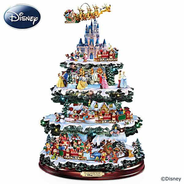 Disney tabletop Christmas tree with lights, music and action - a Christmas gift that will thrill any Disney fan!