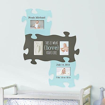 Baby Footprint Puzzle Frame Set