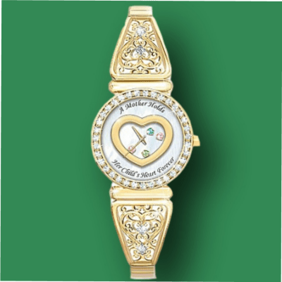 Personalized Mother's Birthstone Watch
