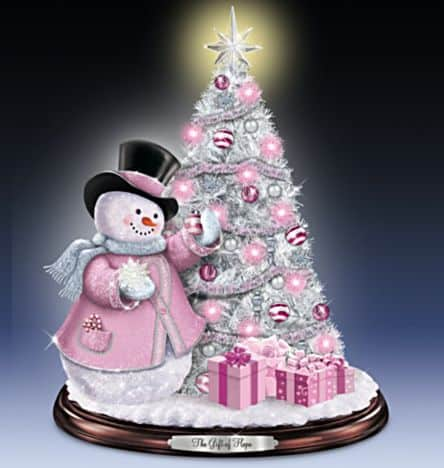 Breast Cancer Awareness Tabletop Christmas Tree