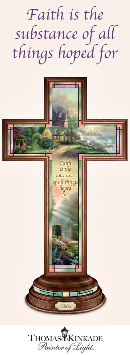Beautiful Thomas Kinkade cross is a fabulous Christmas gift for the religious woman.