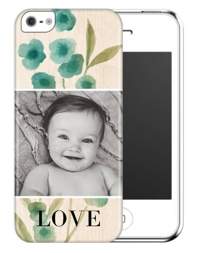 A personalized phone case that features a favorite picture of the new baby is a useful yet fun Christmas gift for the new mother!