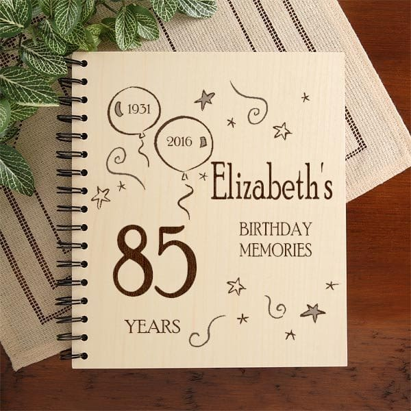 Personalized 85th Birthday Photo Album - Looking for a thoughtful gift for an 85 year old?   Personalized 85th birthday photo album will give them a fabulous way to store their favorite pictures.