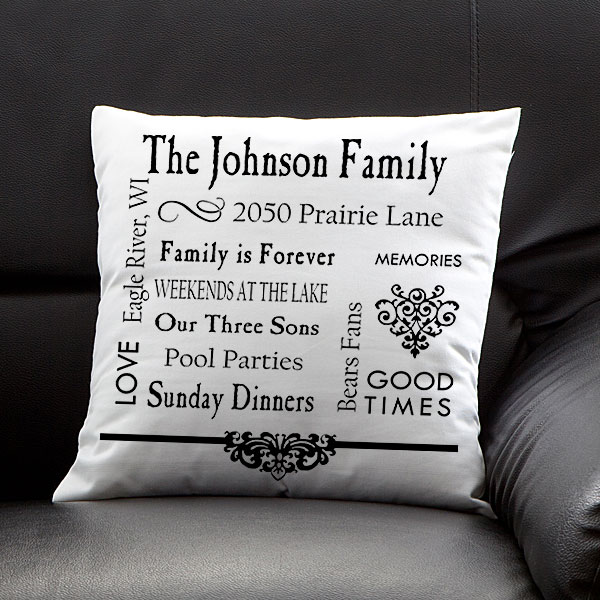 Personalized Family Memories Pillow