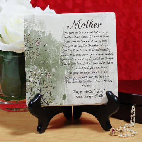 Sentimental Poem Plaque for Mom