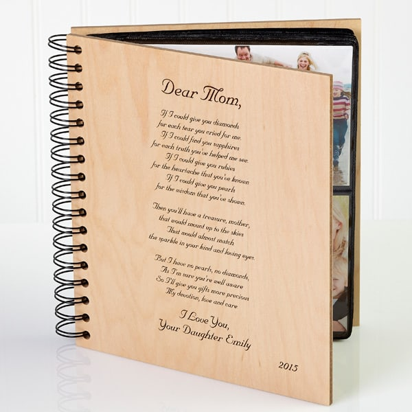 Touch Mom's heart with this meaningful photo album filled with some of your most precious memories. Add your own loving poem to the front to make this present even more special!