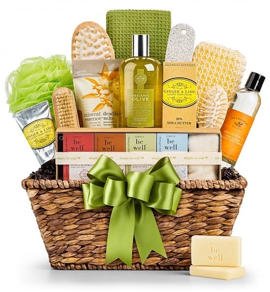 Spa Gift Basket - Pamper Mom, Grandma or another special lady on her birthday with this gorgeous organic spa gift basket!