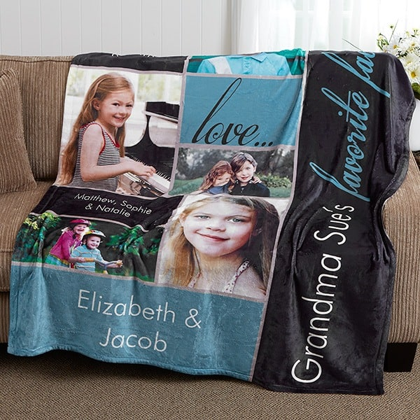 Lovely photo blanket is a fabulous gift for any man or woman turning 85!