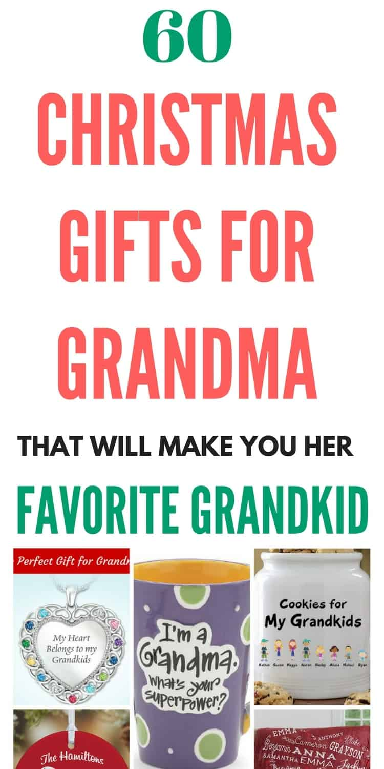 Christmas Gifts for Grandma -Looking for awesome Christmas gift ideas for your grandmother?  Check out these 60 fabulous presents - they're sure to make you her favorite grandchild ever!  #christmasgifts #giftguide #christmaspresents