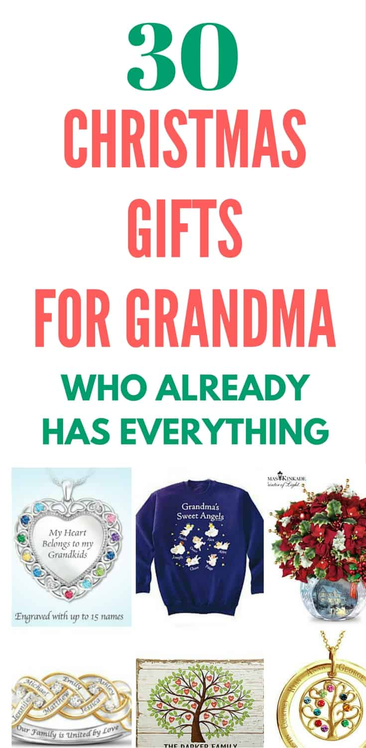 Christmas Gifts for Grandma - Need Christmas gifts for the Grandma who has everything? Surprise her this Christmas with one of these top gift ideas!