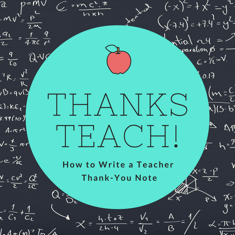 How to Write a Teacher Thank You Note