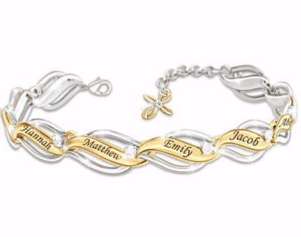 Family of Faith and Love Personalized Bracelet