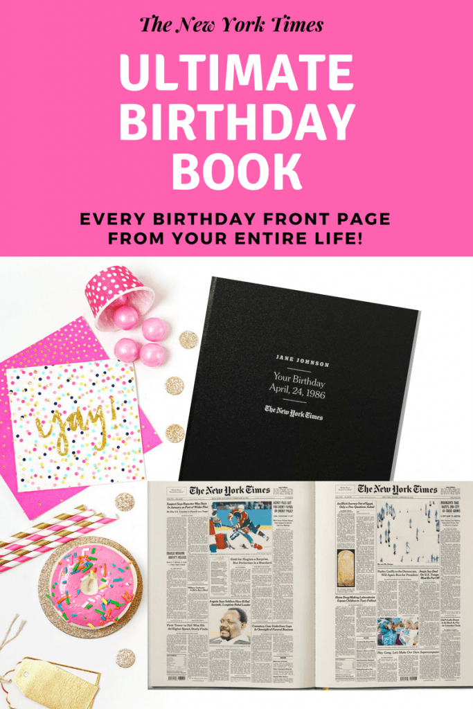 70th Birthday Gifts for Mom - Looking for an awesome present for the Mom who is turning 70 this year?  Impress her with The Ultimate Birthday Book....every birthday New York Times front page for her entire life!