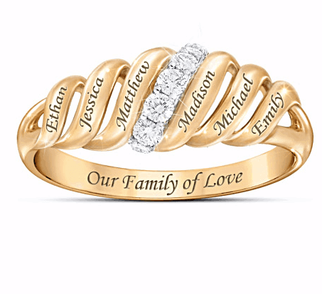 Gold Family Ring for Mom