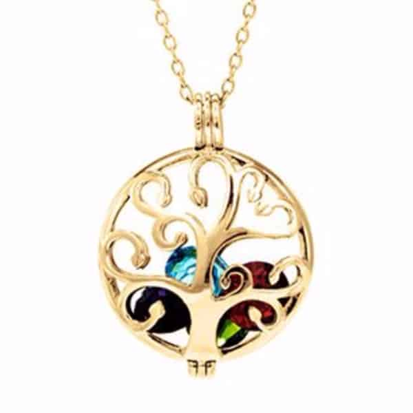 Family Tree Birthstone Locket - Silver, Gold or Rose Gold