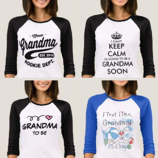 First Time Grandma shirts are a fun way for the new grandma to show off her excitement about the grand baby!
